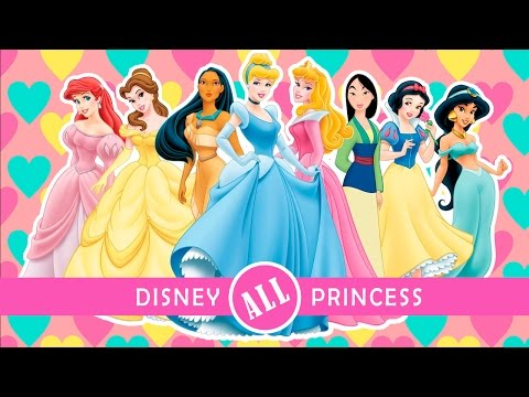 Disney Princess History | All Disney Princess Names & Costumes 1937-2013 | Kids Channel