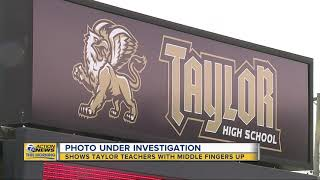 'It was a joke': Teachers Union respond to photo of Taylor teachers giving middle finger