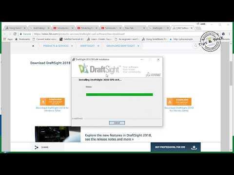 การลงโปรแกรมเขียนแบบสองมิติ 2D DRAFTSIGHT® 2018 - YouTube