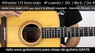 Afinador Medio tono abajo guitarra acústica afinar medio tono bajo Guitar TUNER half step down