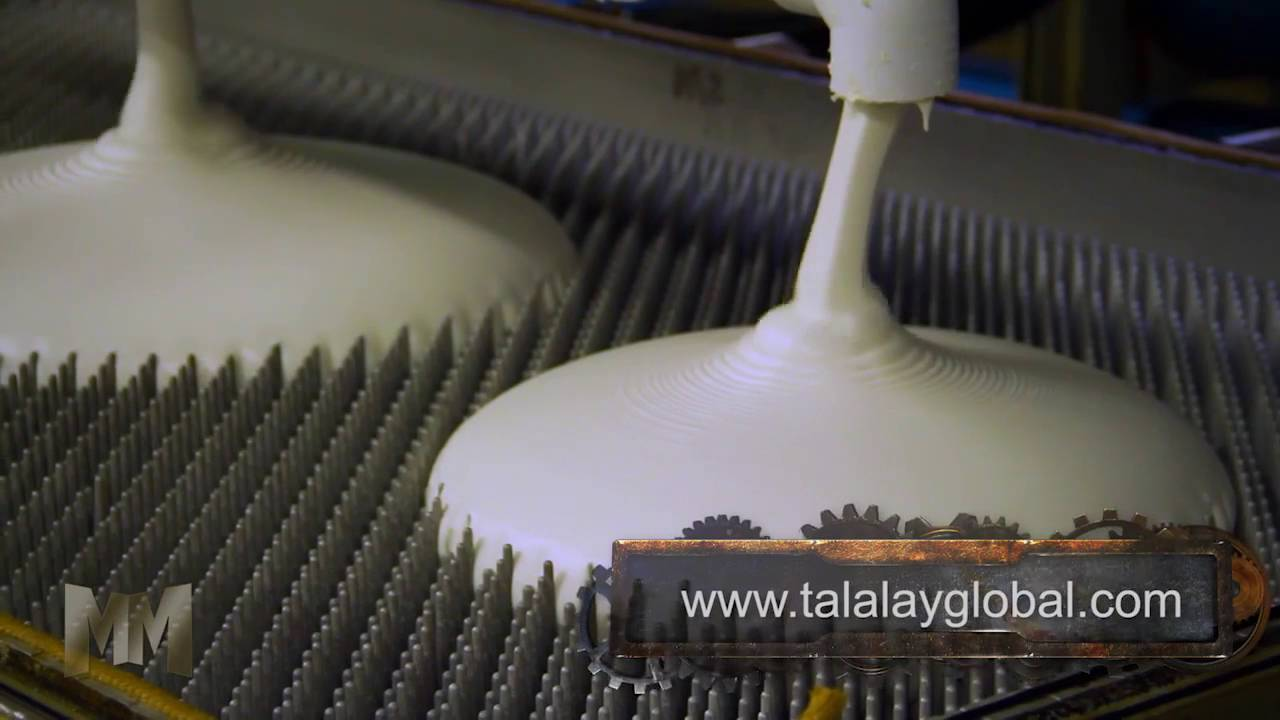 how a pure talalay bliss mattress is made - youtube
