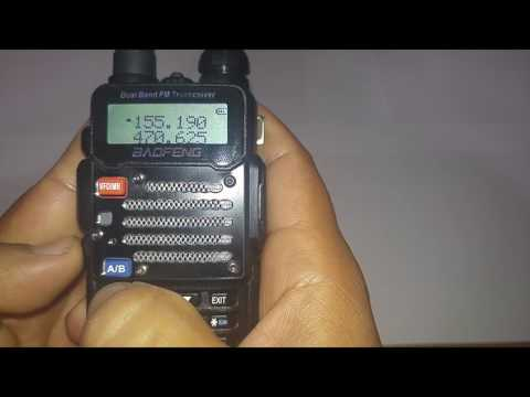 Manually Set A Baofeng Uv-5rv2+/ Police Scanner/ Ham Radio