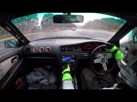 JZX100 T67-25G wet drifting at FUJI drift park