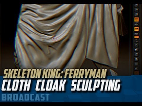"""Ferryman Set"" zBrush Sculpting -Cloak Cloth Sculpting"