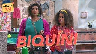 Graça e Briti estão vendendo o biquíni de fita isolante! | Tô De Graça | Humor Multishow