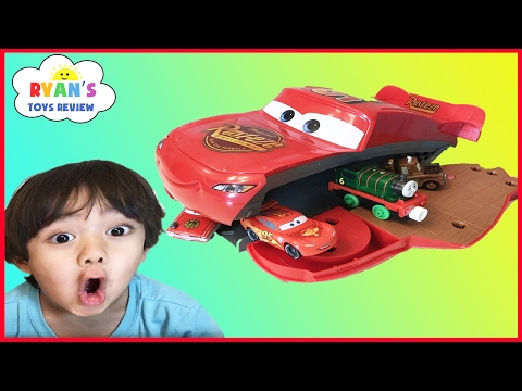 Thumbnail: Disney Pixar Cars Toys Lightning McQueen Transformers Playset eats cars ! Egg surprise toy for kids