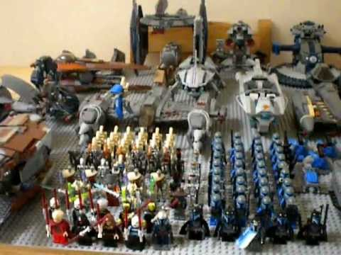 My lego star wars droid army and mandalorian army youtube - Lego star wars vaisseau droide ...