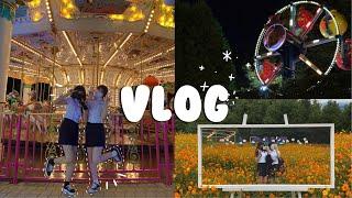 [vlog] 놀이동산 브이로그 | 교복입고 놀이동산 |…