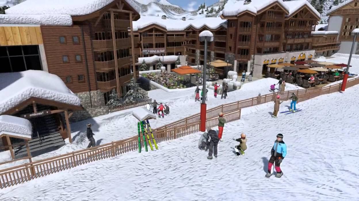 1 re bauche non contractuelle du front de neige de courchevel moriond youtube - Courchevel 1650 office du tourisme ...