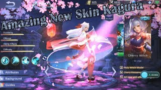 AMAZING NEW SKIN Kagura Cherry Witch Gameplay | Mobile Legends