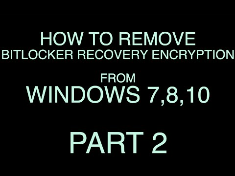 If your hard disk is encrypted it will ask for recovery key. This video will show you how to backup .