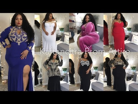 Some 🔥🔥Elegant Gowns Try-On | Prom-ish? You Tell Me! | ft. Kaftancitra Plus Size