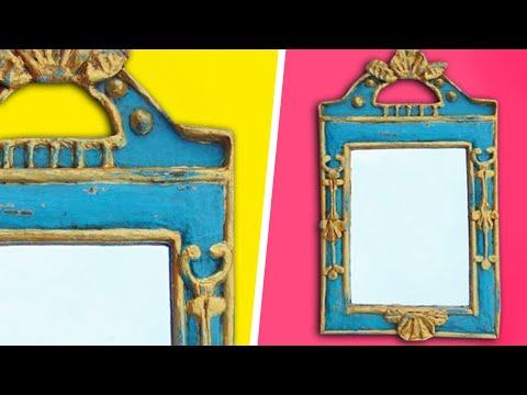 marco espejo de papel vintage imitaci n madera youtube