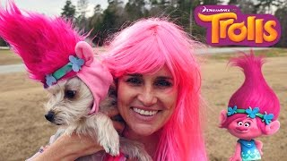 Trolls Puppy Makeover (Poppy, Branch, Guy Diamond) Dreamworks New Movie