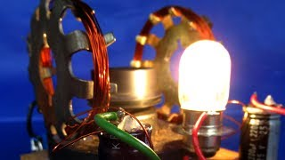 Made Electric DC motor Generator 220V AC from 12V DC - Science Free energy Experiment Easy