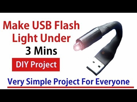 How to Make USB Flashlight At Home Using Wood Piece In 3 mints