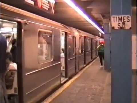 New York Subway IRT 1,2,3 trains in September 1990
