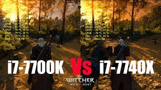 intel i7-7740X vs i7-7700K  Witcher 3 Ultra Settings (Side by Side Comparison)