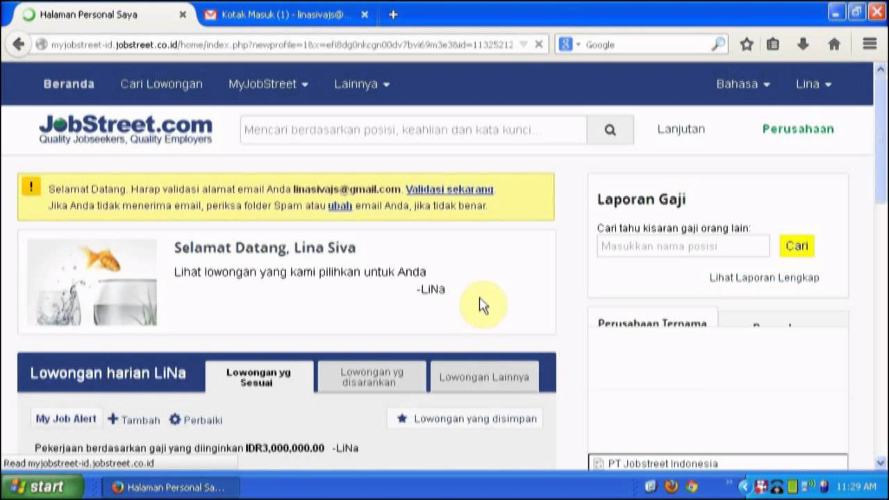 Video Tutorial Registrasi JobStreet com - YouTube