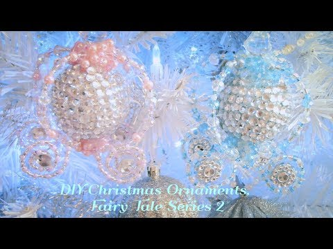 DIY Christmas Tree Ornaments, Room Decor, Cinderella Carriage!! Fairy Tale Series 2!