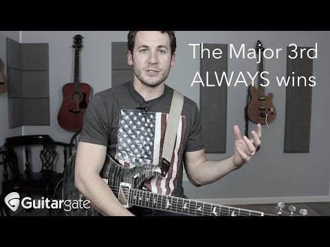mixing major and minor? the major third always wins :)