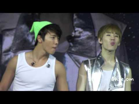 130602 [HD FANCAM] Super Junior Eating Candy at SS5INA