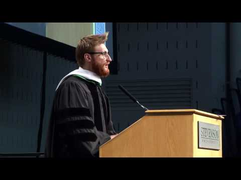 Paralympian Brad Snyder, Stevenson University Commencement ...
