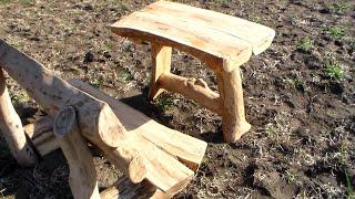 Как своими руками из дерева сделать интересный столик!(Как своими руками, со свежеспиленного дерева сделать, интересный и необычный столик! В этом видео мы сделал..., 2015-04-14T18:35:28.000Z)