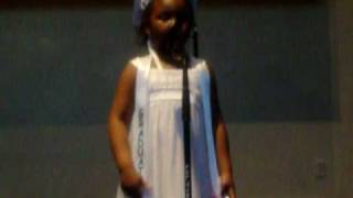 morgan singing  the song tomorrow.....annie eat your heart out