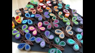 ✿ Quilling - Fluture - Tutorial 7 - AidaCrafts