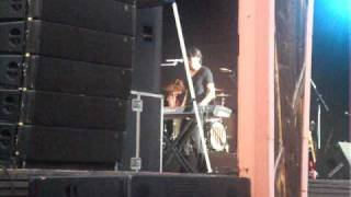 Mitchel Musso playing/singing Apologize on the piano Six Flags 7/16/09