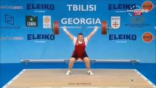 2015 European Weightlifting, Women`s Gold Snatches