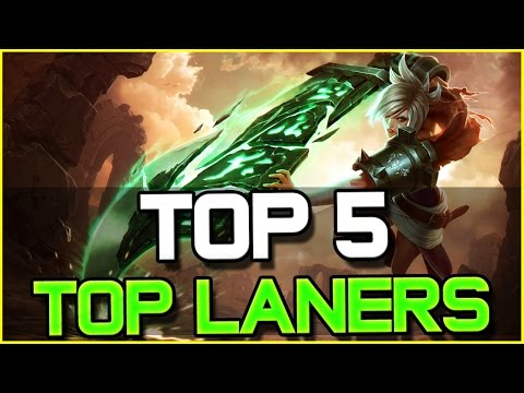 TOP 5 BEST TOP LANERS - Patch 6.18 | League of Legends