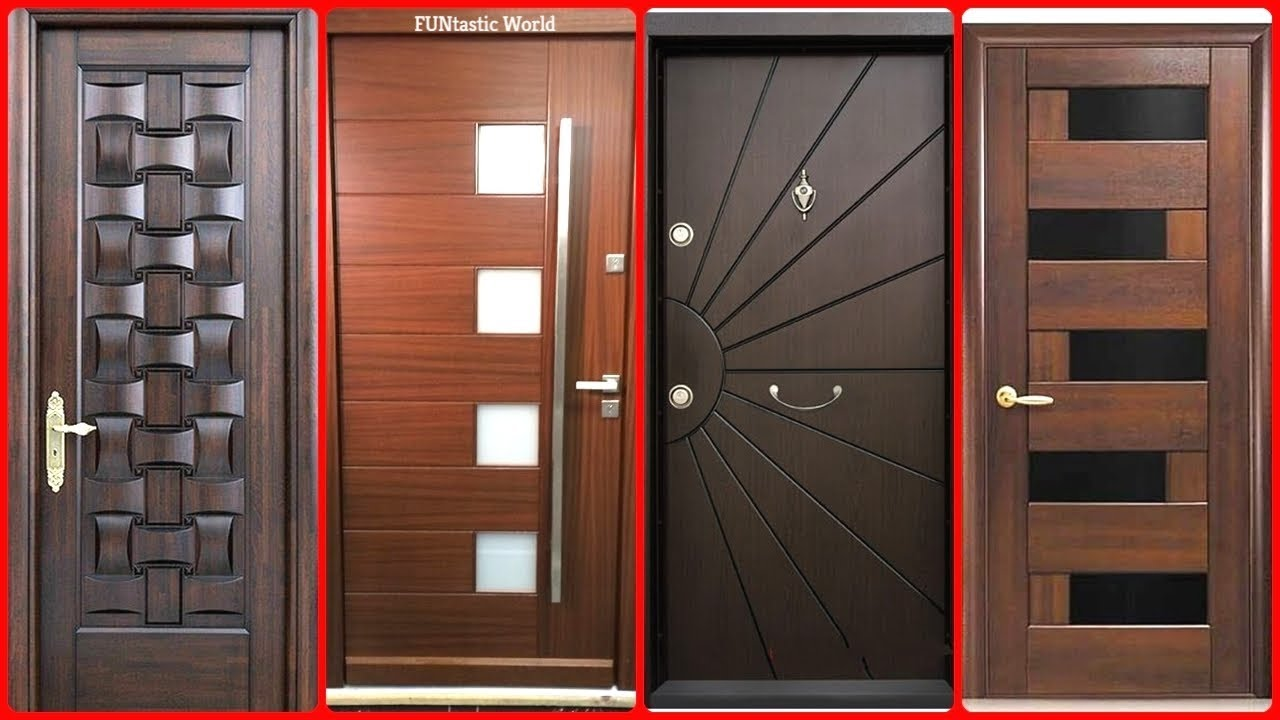 Top modern wooden door designs for home 2018 main door for Modern house design 2018