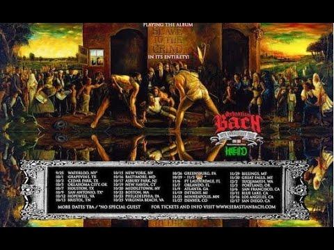 "ex-SKID ROW vocalist Sebastian Bach ""Slave To The Grind"" 30th Anniv. tour!"