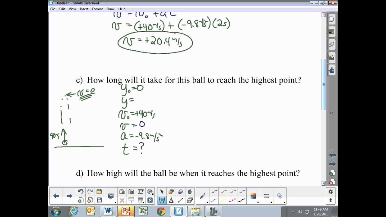 1-D Kinematics: Basic free fall example problems - YouTube