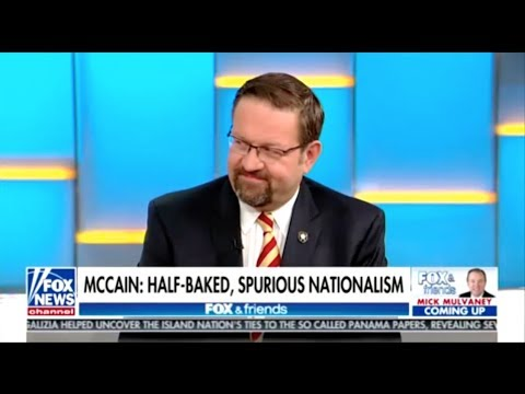 Spurious Nationalist Seb Gorka Upset John McCain Bashed