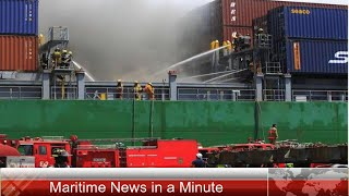 Fire in Cargo Ship at MICT