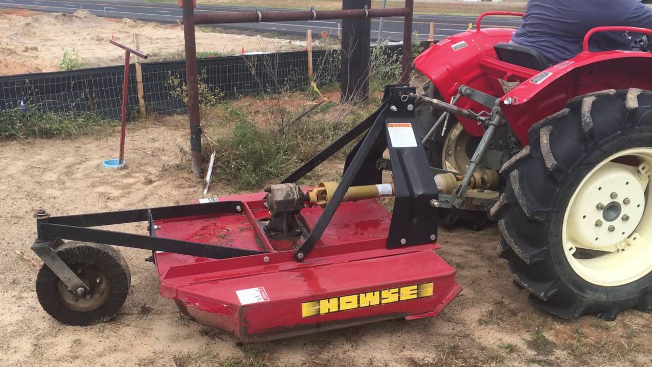 Howse Brush Hog : Yanmar d tractor with bulldog fel and howse brush