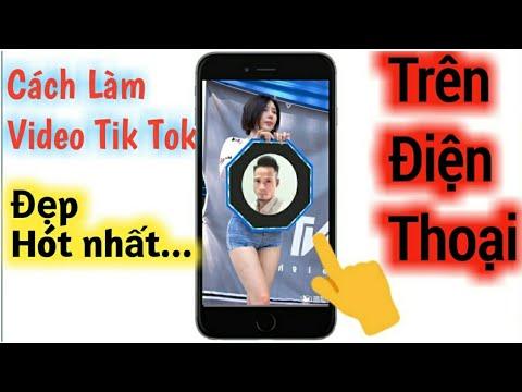 Cách làm video Tik Tok mới nhất 2020 | Em gái xinh cầm biển quảng cáo
