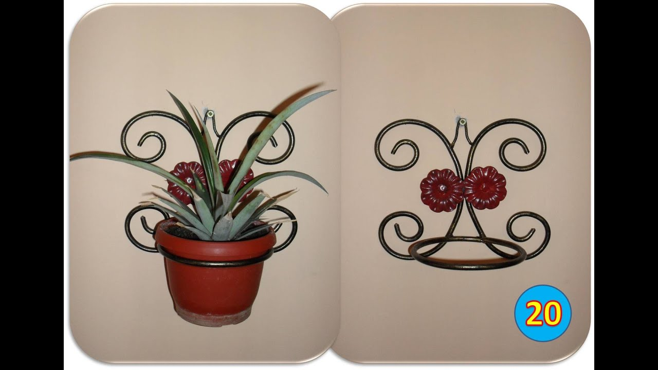 Plants Holders Metal Making A Wall Mounted Plant Holder Youtube