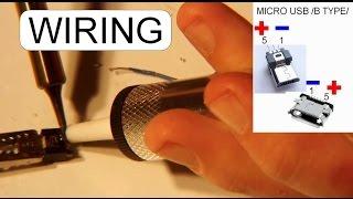 wiring micro usb male connector youtube rh m youtube com usb jack solder usb to headphone jack wiring diagram