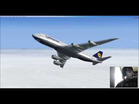 FSX: Frankfurt to Kansai with a 747-8