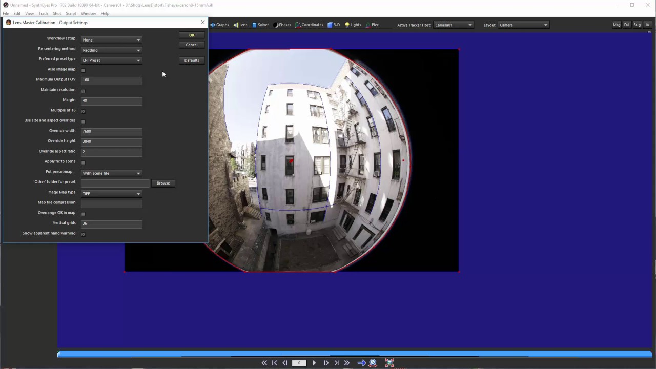 Fisheye Calibration with Straight Lines