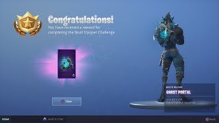 * UNLOCKING * NEUE EPIC 'GHOST PORTAL' Zurück Bling (Skull Trooper Challenge Complete) Fortnite
