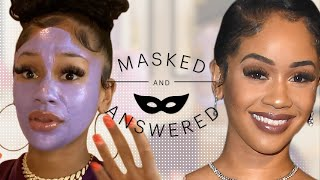Saweetie Reveals Her 'Guilty Pleasure' Beauty Ritual   Masked and Answered   Marie Claire
