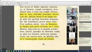 09 | Sinjoro Tadeo 1: 716-825 | Pan Tadeusz – 에스페란토 판 타데우시 1권 공부 (zoom)