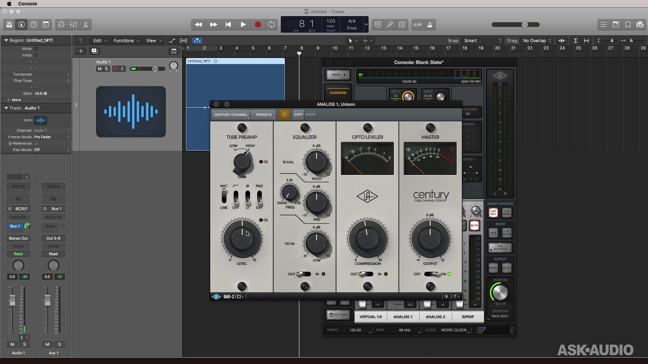 Tracking With The UAD Century Tube And Apollo Twin : macProVideo com