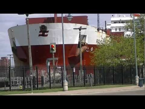 Richelieu Great Lakes Freighter in Soo Locks, Sault Ste. Marie, Michigan