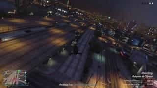 Buzzard Attack freemode gameplay [crew vs crew] - GTA V Online